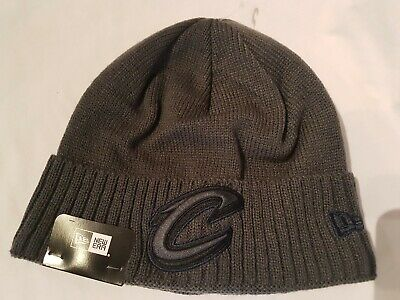 New Era Cleveland Cavaliers Ribbed Beanie Dark Grey  Brand New With Tags