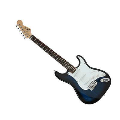 Blue Electric Guitar+Bag Case+Strap+Strings+Picks+Capo+Tuner+Wrench+Cable