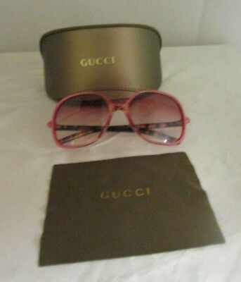 a26b325d6ee GUCCI Women s Tinted Sunglasses GG3003 S PINK Butterfly Frame w  case ITALY  EUC