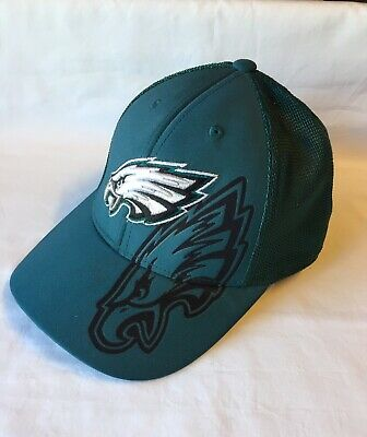6d2a9ac6df3 PHILADELPHIA EAGLES NFL Reebok Size S M Flex Hat Cap Black -  20.00 ...