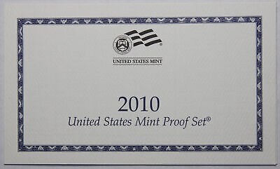 2010-S Clad Proof Set New US Mint Product COA ONLY, NO COINS