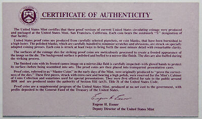 1992-S Clad Proof Set New US Mint Product COA ONLY, NO COINS