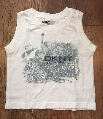 Boys 18M Dkny White Vest Top Summer/Sport/Holidays/Beach/Party/Toddler/Nursery