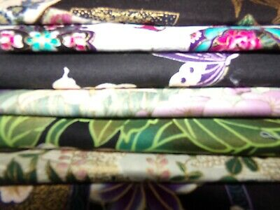 ASIAN Chinese Japanese ORIENTAL flowers BTY Cotton Fabric U-PICK READ for info