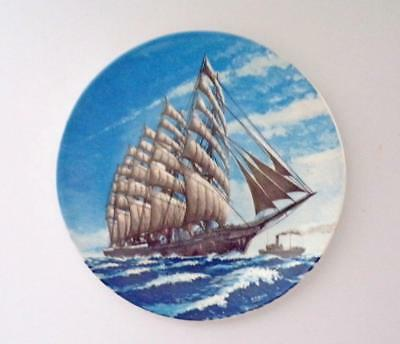 Poole Pottery Commemorative Plate Featuring the Sailing Ship Preussen