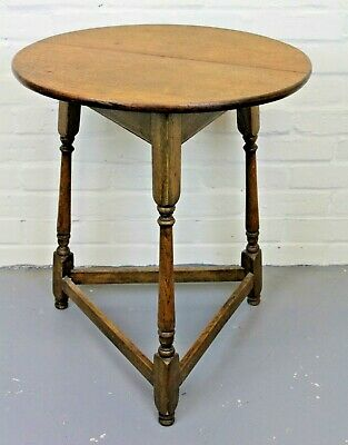 Antique Georgian George III Pine Cricket Table (Side Table Occasional Table)