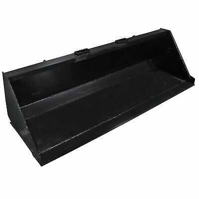 """78"""" Skid Steer Bucket Attachment 3/16"""" Thick For Dirt and Debris Loading"""