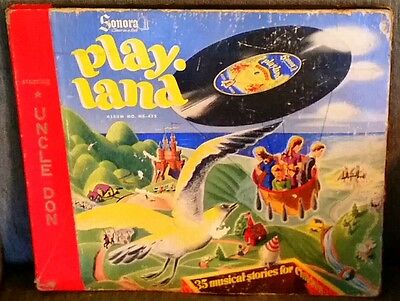 RARE 40s VINTAGE CHILDREN'S TALK SHOW HOST UNCLE DON PLAY LAND 6 RECORDS SONORA