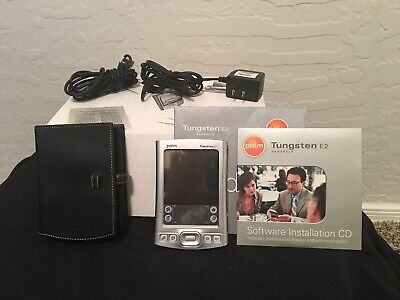 Palm Tungsten E2 PDA Os Working Condition Complete Charge Battery Case Cables