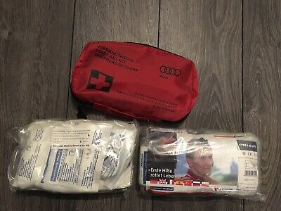 Genuine Audi Car First Aid Medical Emergency Kit *a1 S1 A3 A4 A5 A6 A7 S4 Q5 Q7