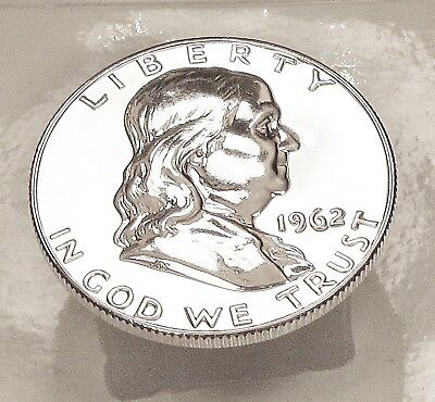 1962  Franklin   Choice  Proof   90%   Silver  >Coin  as  Pictured<  #707  2B