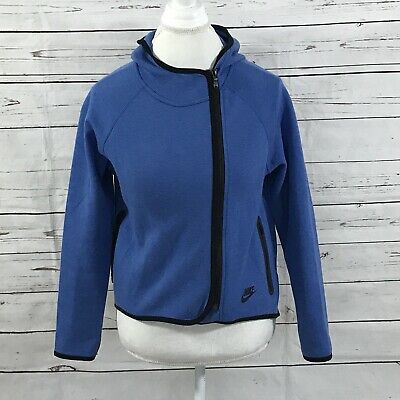 eb5e739ad2b7 NIKE WOMENS TECH Knit Full Zip Hoodie Jacket Squadron Blue  250 XS-L ...
