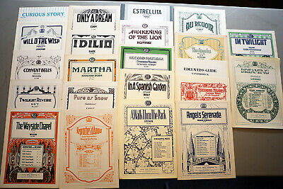 VINTAGE PIANO SHEET Music - Lot of 22 - Advanced Level Classical Selections