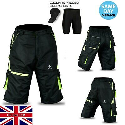 759553f8e MTB Cycling Short Off Road Cycle CoolMax Padded Liner Shorts Size (S To XL)
