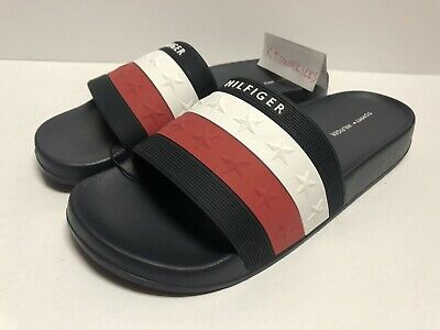 ef2caf1c3 Tommy Hilfiger Star Pattern Dulce 2 Slides Sandals Red White Blue Women s  Size 8