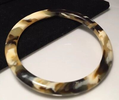 Vintage Art Deco jewellery Lovely Marbled early Celluloid bangle