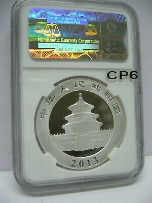 2013 China Panda Silver NGC MS-70 The Great Wall Label Gem Coin