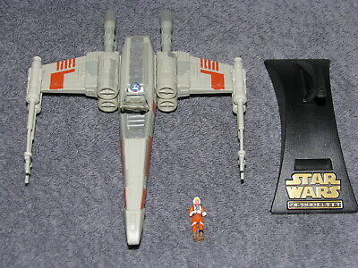 Vintage Star Wars Micro Machines Action Fleet X-Wing w Stand and Figure Galoob