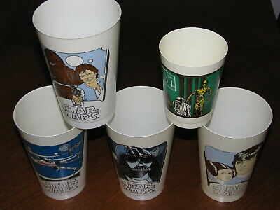 Vintage Star Wars Coca Cola 1977 Limited Edition Promo Cup Lot and 1983 ROTJ Cup