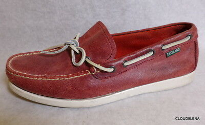 59e2c2fe25a EASTLAND Yarmouth Men s Size 11D Red Leather Loafers Mocassin Boat Shoes