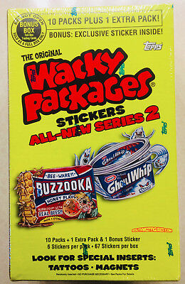 Wacky Packages ANS2 Factory Sealed Box (Topps 2005) + Bonus + FREE SHIPPING!