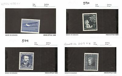 Lot of 13 Austria MNH Mint Never Hinged Stamps #120588* X R