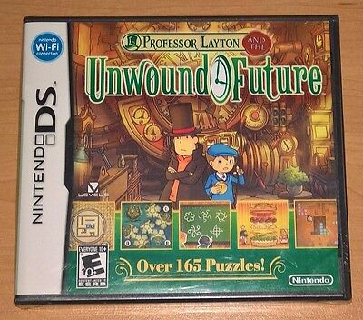 Professor Layton and the Unwound Future (Nintendo DS) NEW SEALED in damaged case