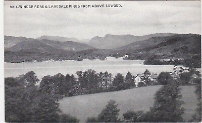 The Lake & Langdale Pikes From Above Lowood, WINDERMERE, Westmorland