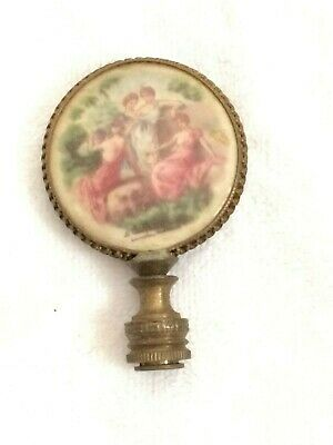 Antique Lamp Finial Victorian French Porcelain Free Shipping