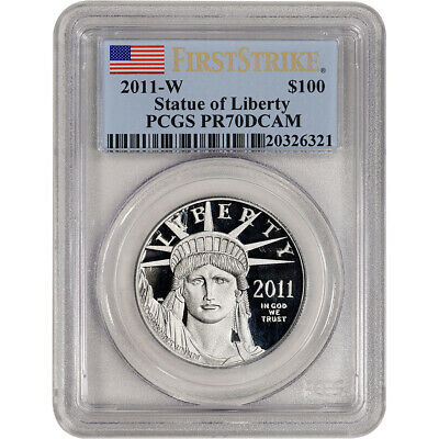 2011 W American Platinum Eagle Proof 1 oz $100 - PCGS PR70 DCAM - First Strike