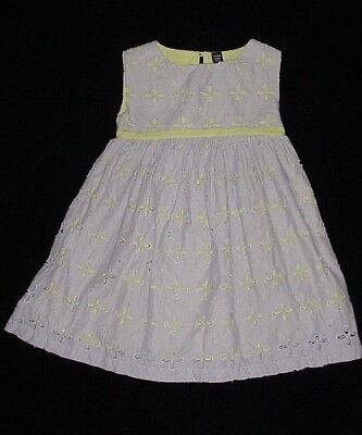 EUC Baby GAP Girls PRETTY LITTLE THINGS Purple & Green Eyelet Dress Size 5T