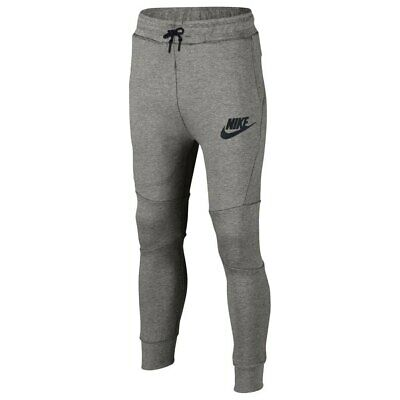 7a27649eb666 Nike Boys Kids Tech Fleece Pants Cuffed Jogger Sweatpant GREY 804818-064 XL