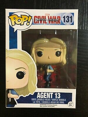 Funko Pop! Marvel AGENT 13 #131 Captain America Avengers Endgame Spider-Man