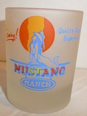 Mustang Ranch Frosted Votive (?) Candle Holder / Shot Glass Quality Control