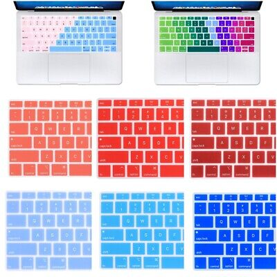 Soft Silicone Keyboard Cover for MacBook Air 13 Inch 2018 Release A1932 Touch ID