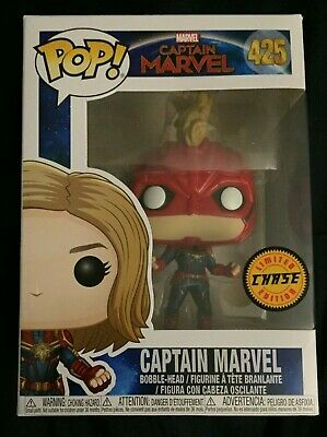 CAPTAIN MARVEL (MASKED) Limited Edition CHASE Funko Pop Figure #432