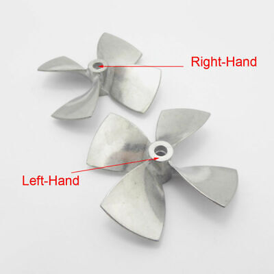 4-Blades Propeller Prop For Shaft RC Boat Scale Marine Parts Zinc Alloy Sale