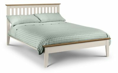 Salerno Ivory Solid Oak Two Tone Shaker Bed Frame 4FT6 Double 5FT King Size