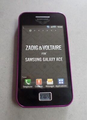 TELEPHONE *** FACTICE *** Smartphone SAMSUNG GALAXY ACE ZADIG & VOLTAIRE /Violet