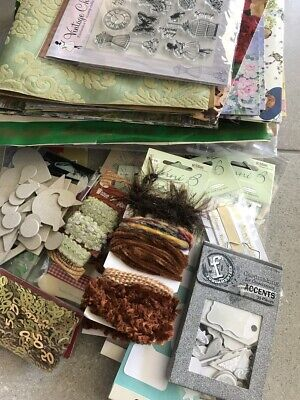 MASSIVE Lot Cardmaking Papercraft Scraps Cards Papers Embellishments Stamps