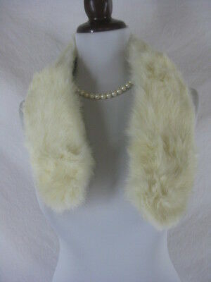 Vtg 40s 50s White Childs Vintage Real Mink Fur Stole Wrap