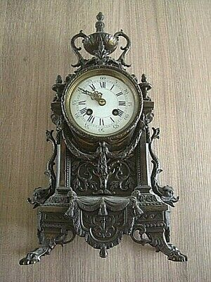 Japy Freres Antique Mantle Clock- Bell Strike ~ 1867~ medal winner..