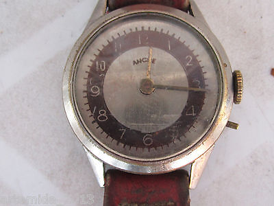 ANTIQUE RARE Swiss  Wristwatch ANCRE WW1 Military Two Tone Dial