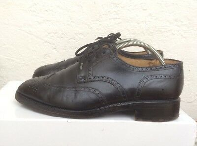 42f27797f746c2 Chaussures Bally Prestige Uk 7.5 41.5 Cuir Noir Suisse Brogues Anglaise  Wing Tip