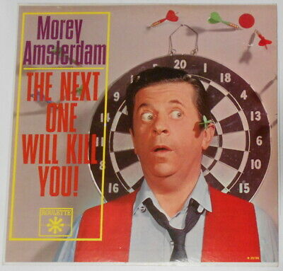 "Morey Amsterdam (Dick Van Dyke) - The Next One Will Kill You  U.S 12"" LP vinyl"