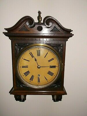 Antique Oak Carved 8 Day Wall Clock