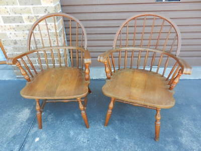 VINTAGE Pair COUNTRY STYLE CAPTAINS CHAIRS