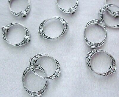 10 Antique Silver Coloured 19mm x 14mm Bead Frames #3155 Jewellery Findings