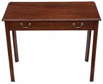 Antique fine quality Georgian mahogany desk writing side table C1820