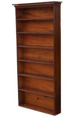 Antique quality Victorian C1870 and later tall mahogany bookcase
